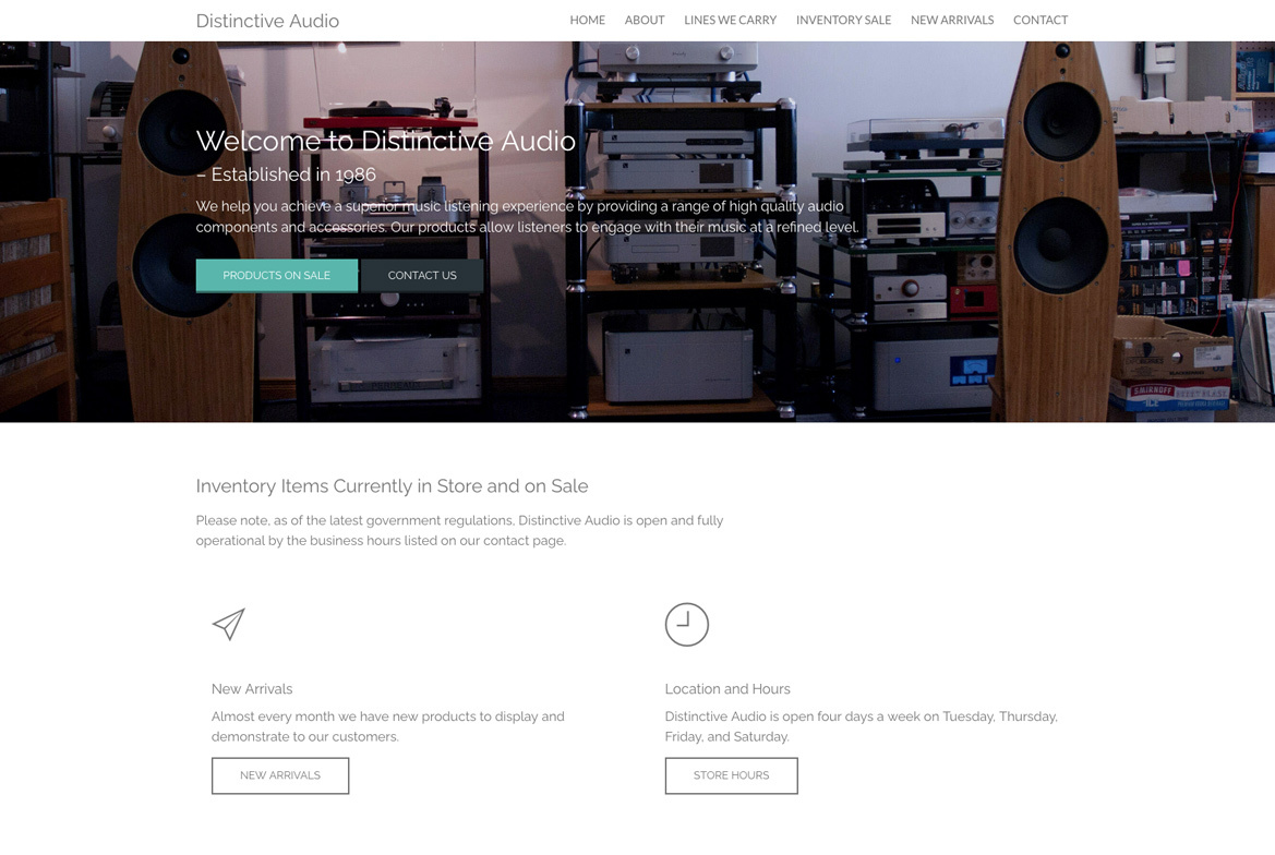 Distinctive Audio Cover