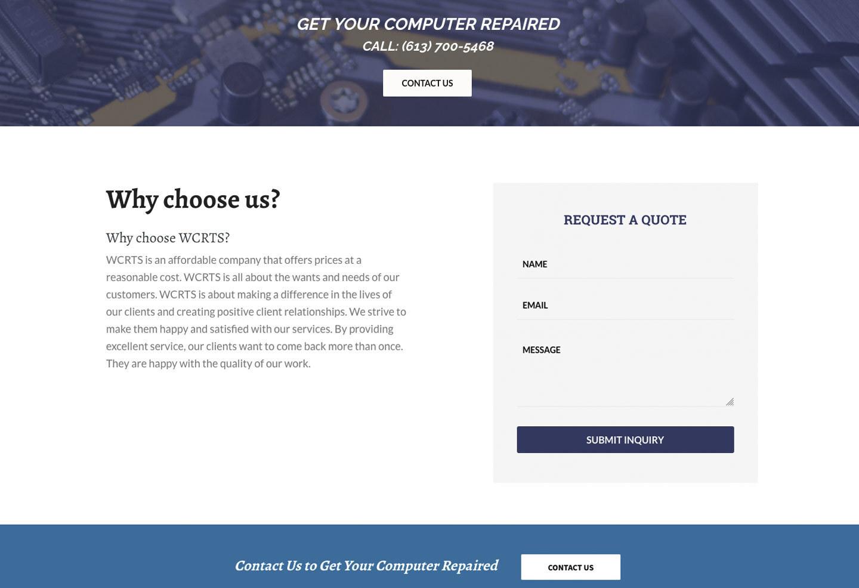 WCRTS Bottom of Home Page